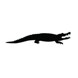 Alligator Silhouette Stencil 01