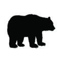 Bear Silhouette Stencil