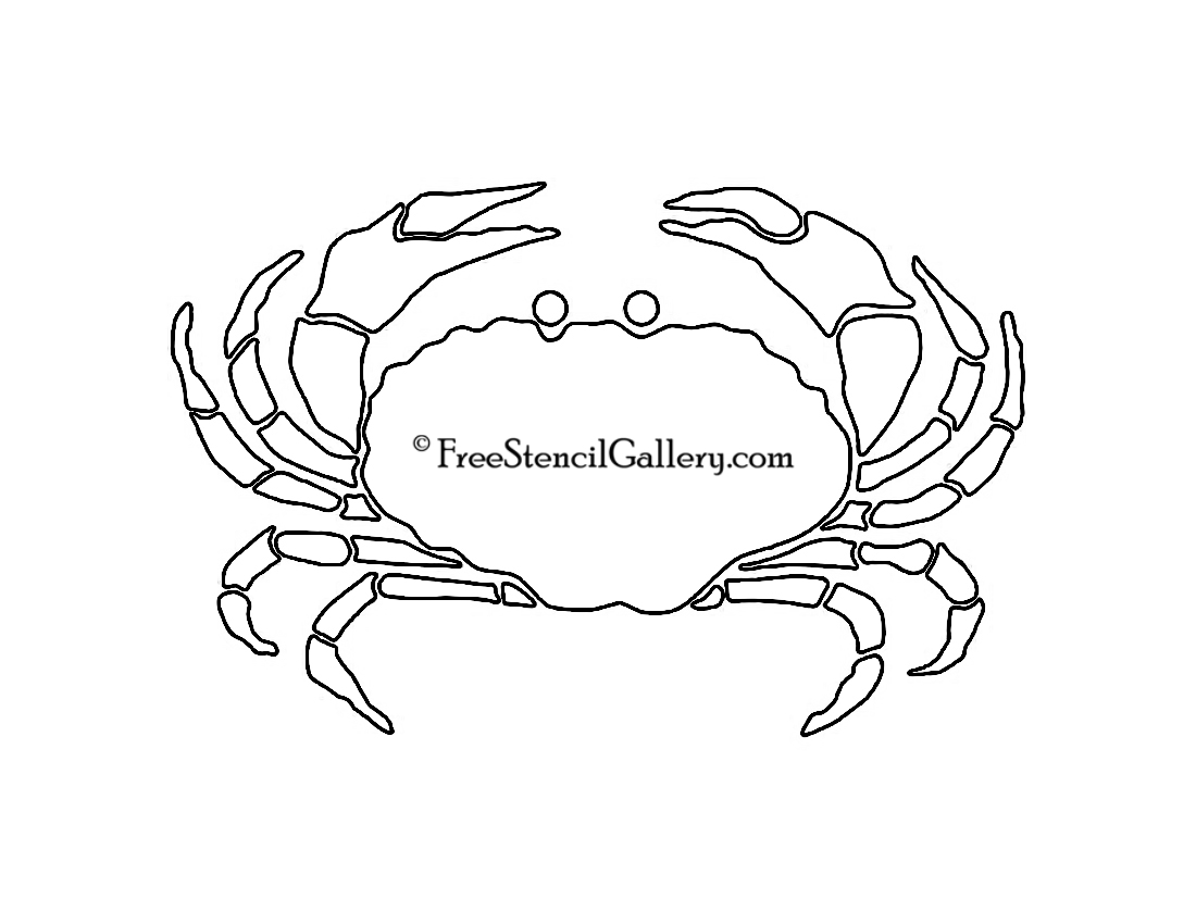 Juicy image regarding crab stencil printable