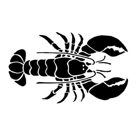 Lobster Silhouette Stencil
