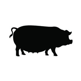 Pig Fat Silhouette Stencil