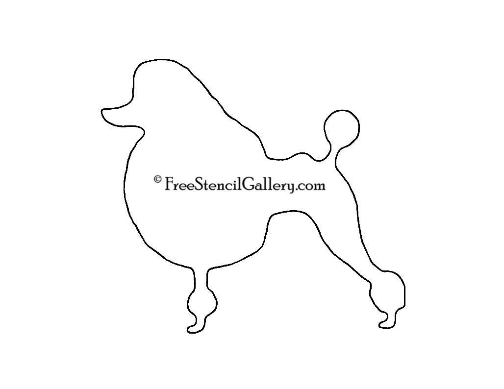 Poodle Silhouette Stencil | Free Stencil Gallery