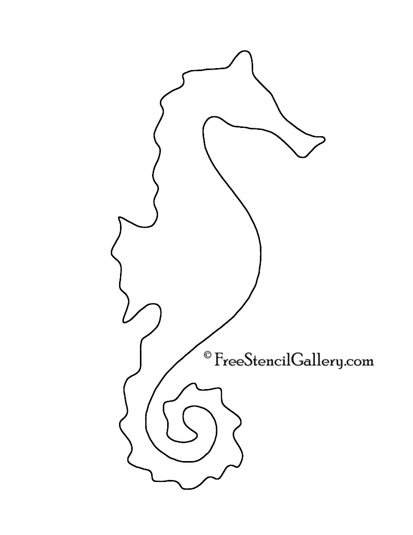 Mermaid Stencil Coloring Pages