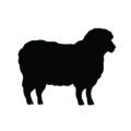Sheep Silhouette 02 Stencil