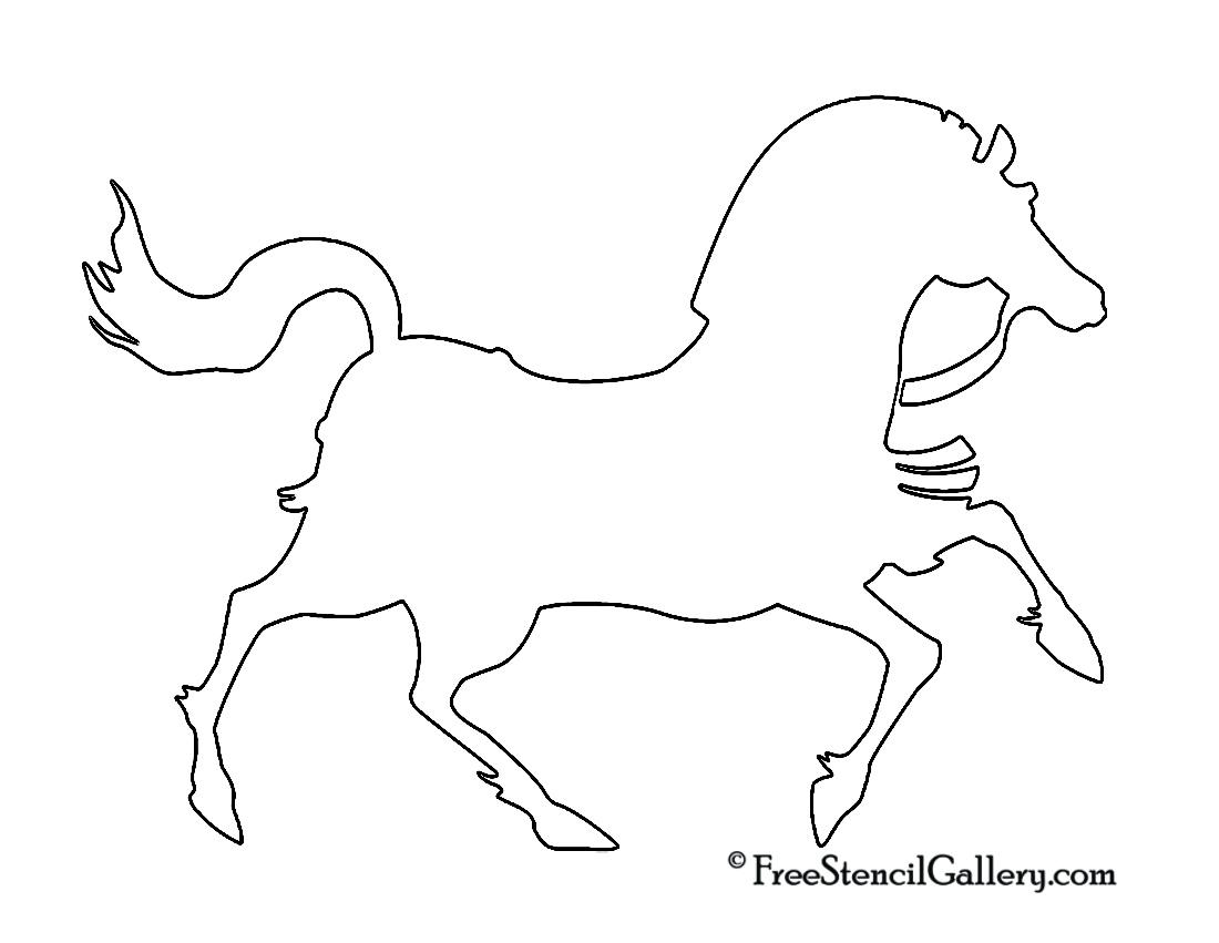 War Horse Silhouette Stencil