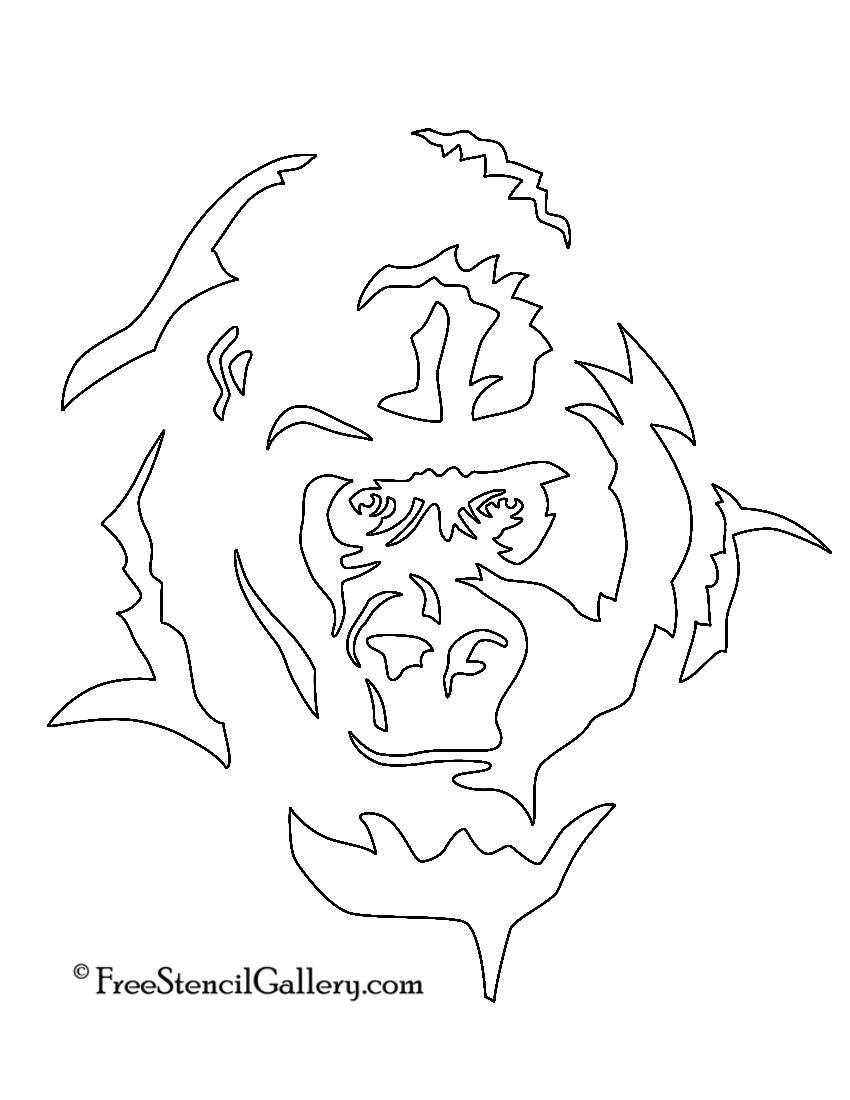 Gorilla Stencil