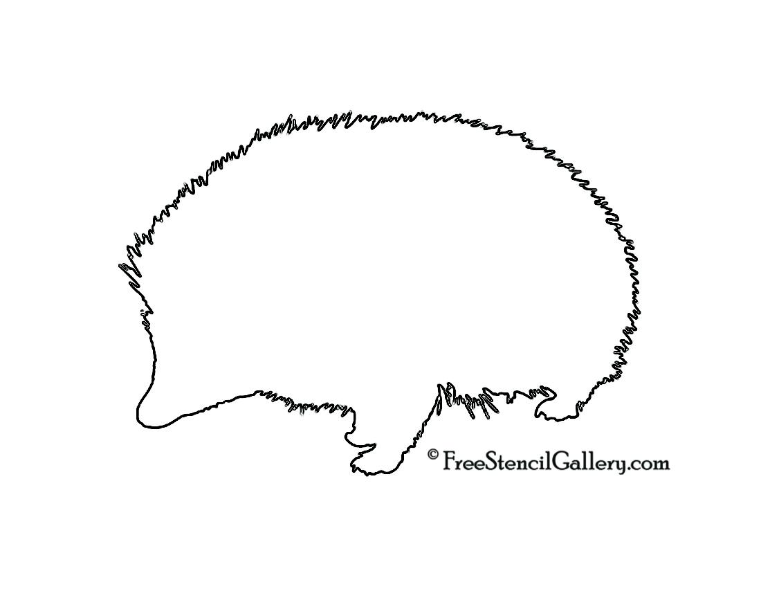 Hedgehog Silhouette Stencil