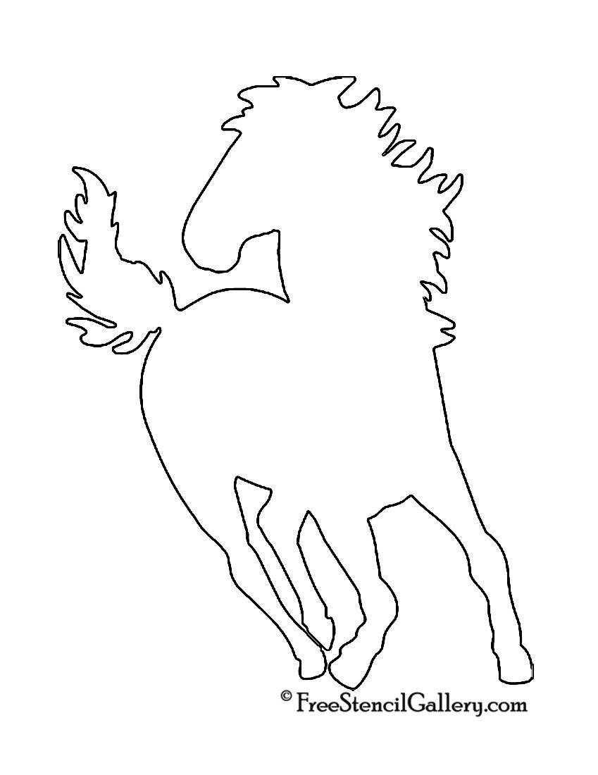 Horse silhouette stencil free gallery