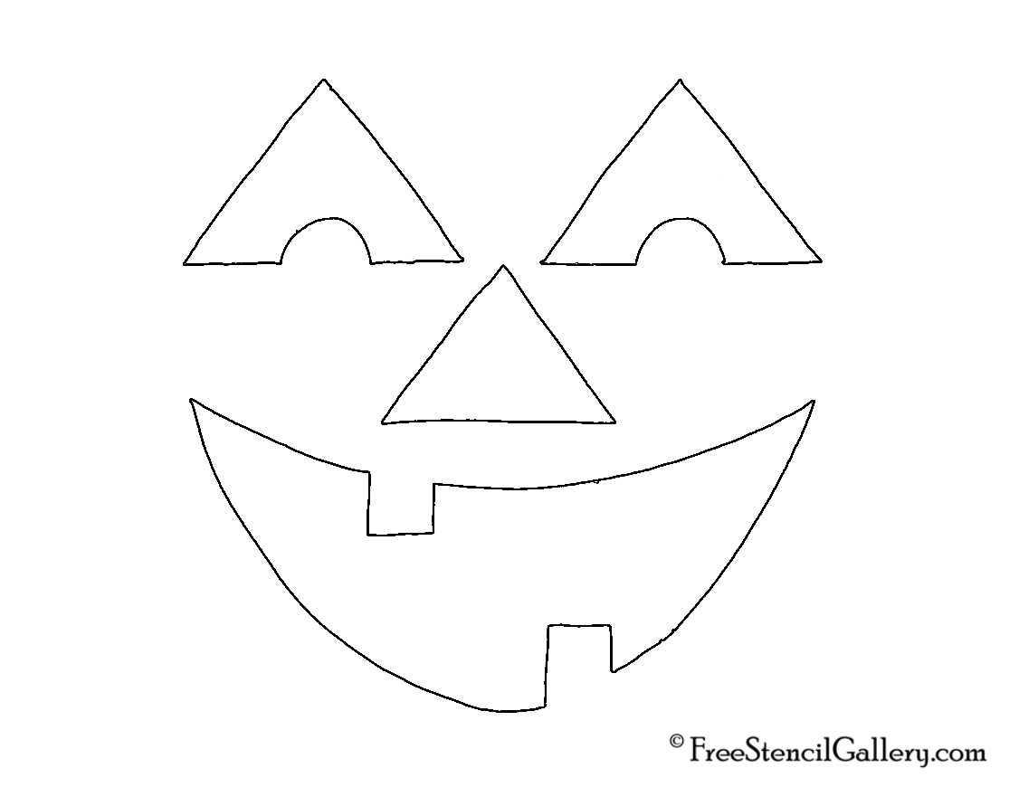 jack o lantern face 17 free stencil gallery. Black Bedroom Furniture Sets. Home Design Ideas