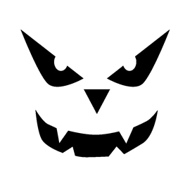 Jack o lantern face 21 free stencil gallery for Scary jack o lantern face template