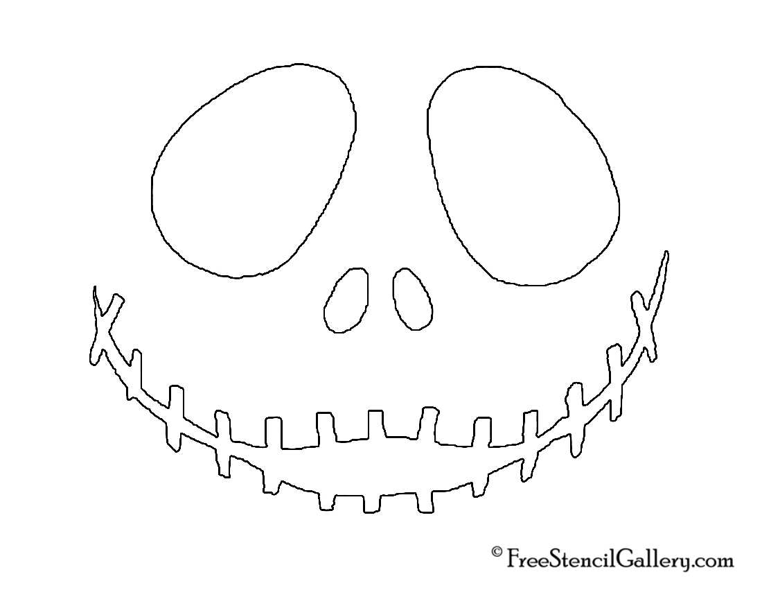 Jack Skellington Face | Free Stencil Gallery