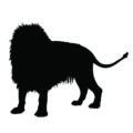 Lion Silhouette Stencil