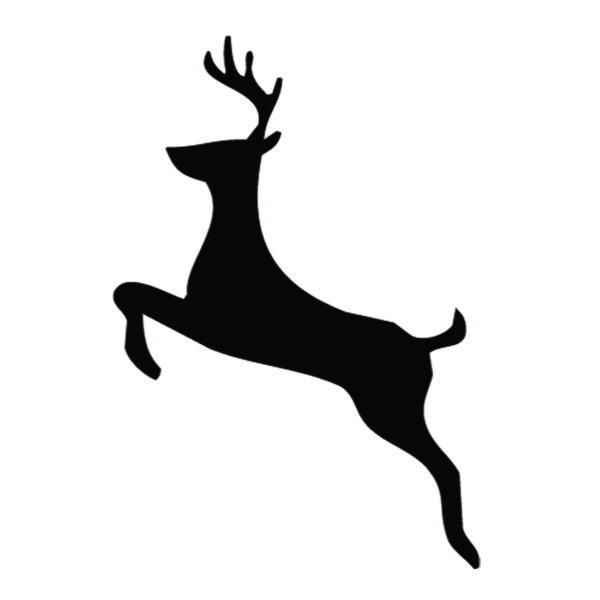 Reindeer Silhouette Stencil 02