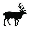 Reindeer Silhouette Stencil
