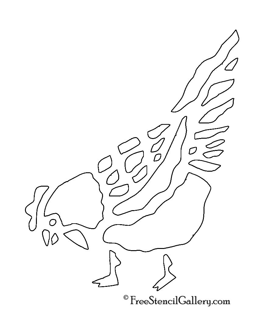Chicken Stencil