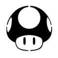 Mario Brothers Mushroom Stencil