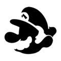 Mario Profile Stencil