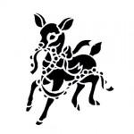 Reindeer Stencil 01
