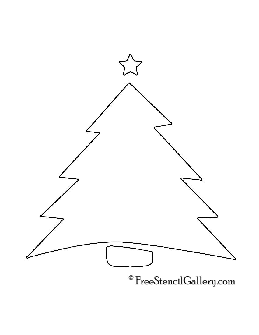 christmas tree stencil 04 free stencil gallery