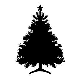 Christmas Tree Stencil 05