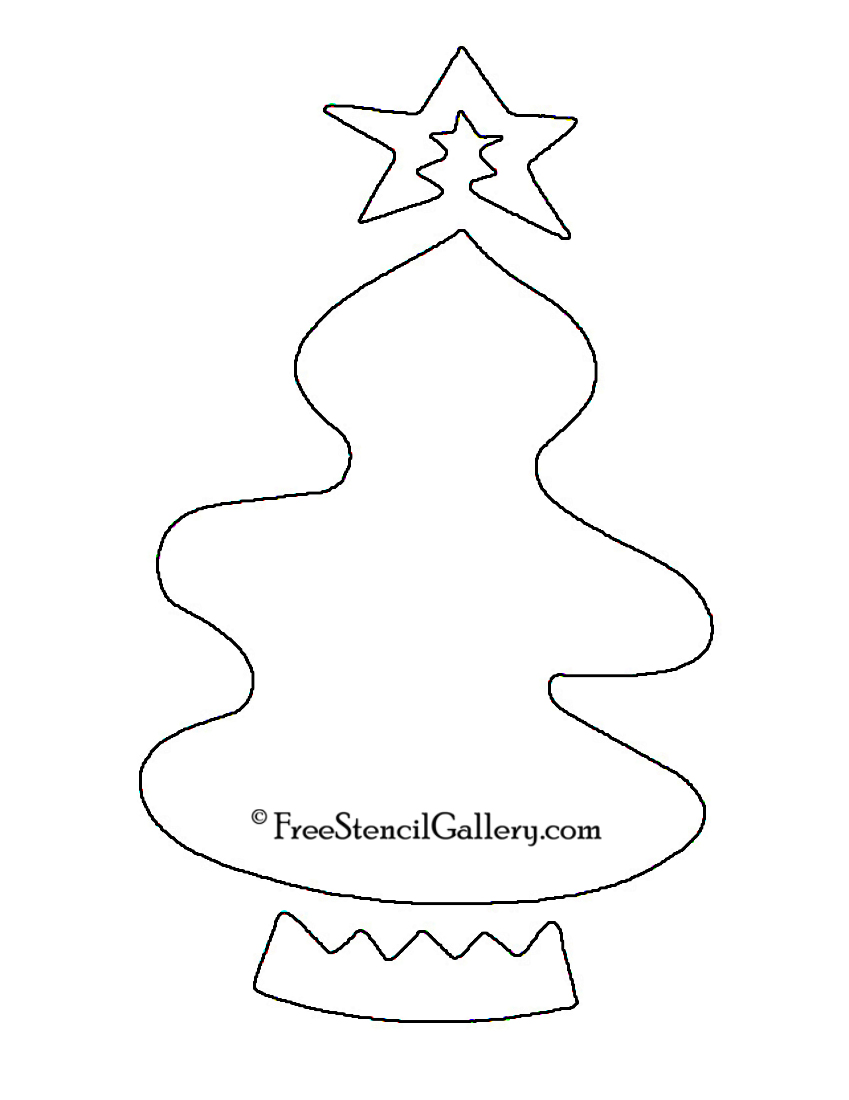 Christmas Tree Stencil 10