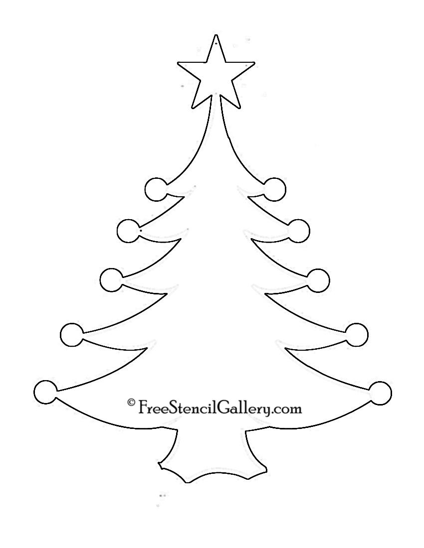 christmas tree stencil 11 free stencil gallery