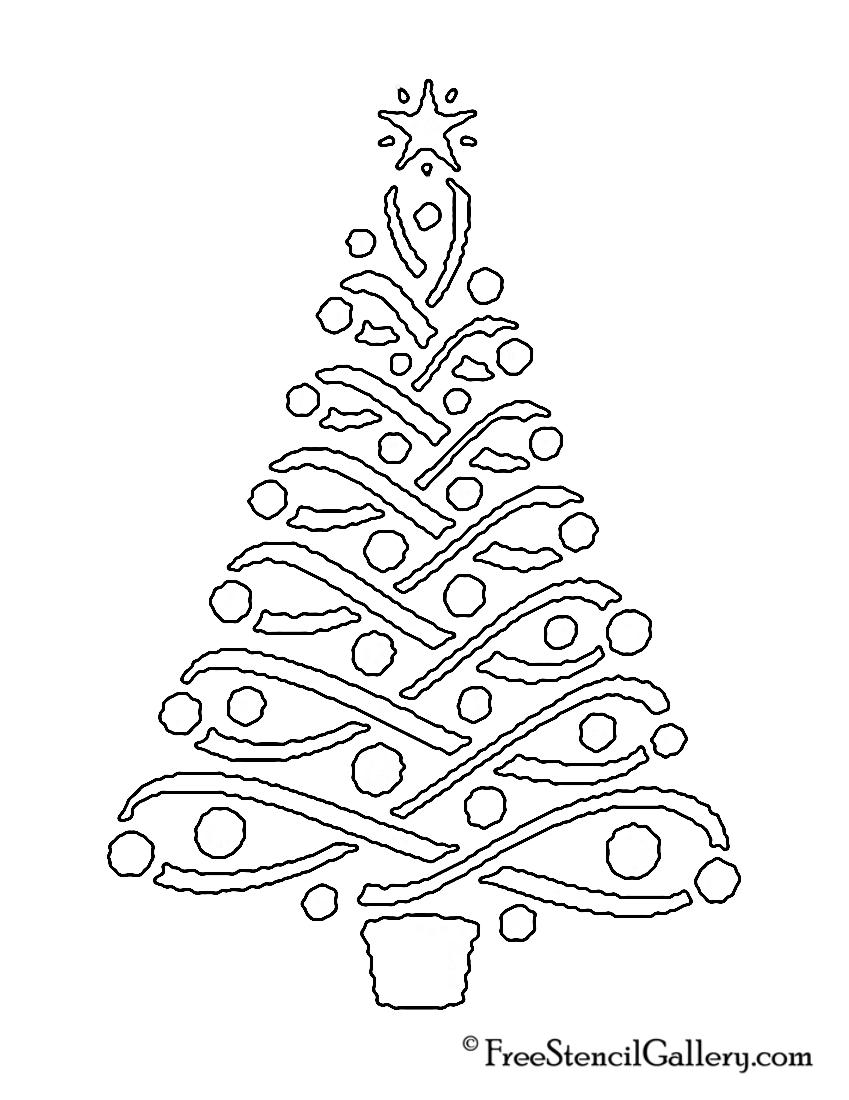 christmas tree stencil 14 free stencil gallery