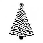 Christmas Tree Stencil 14