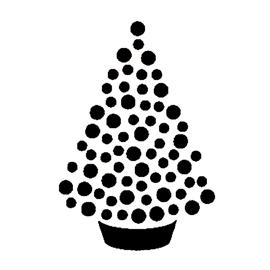 Christmas Tree Stencil 15