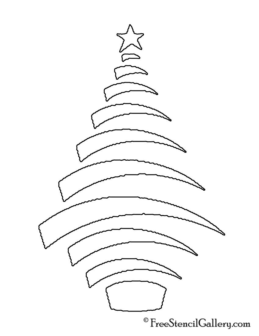 Christmas Tree Stencil 16