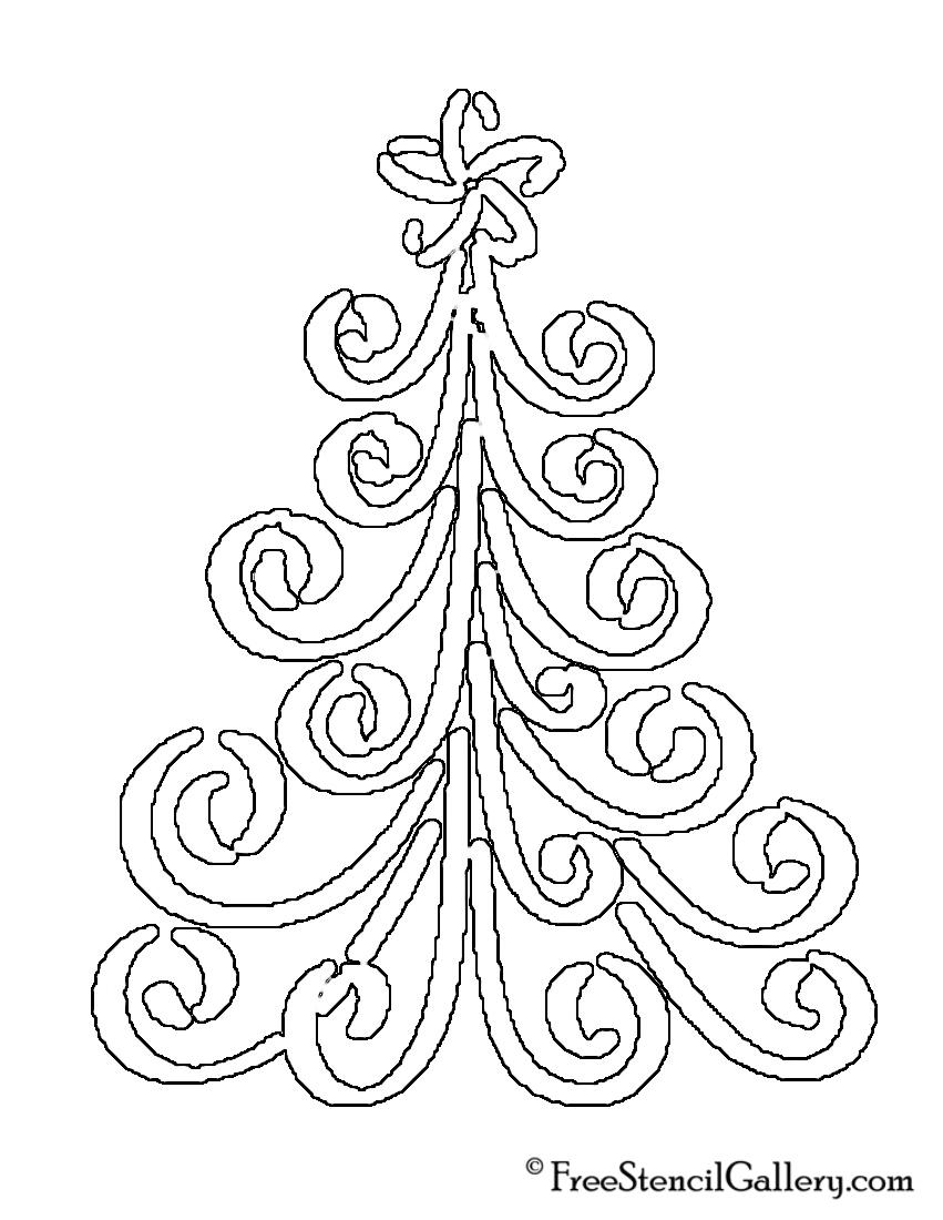 Christmas Tree Stencil 17