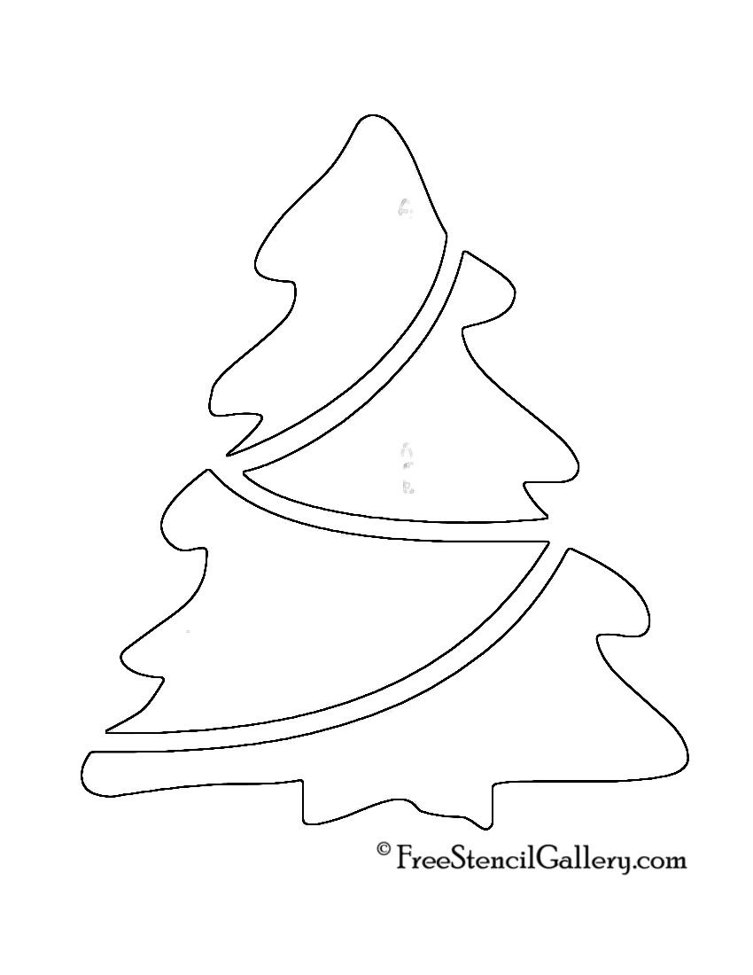 Christmas Tree Stencil 18