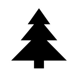 Christmas Tree Stencil 19