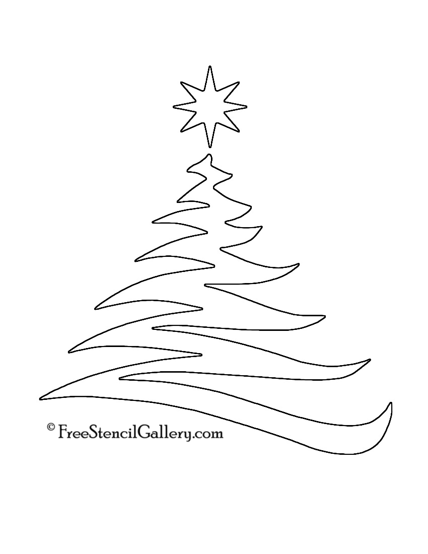 christmas tree stencil 20 free stencil gallery. Black Bedroom Furniture Sets. Home Design Ideas