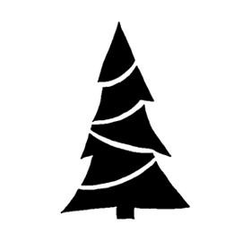 Christmas Tree Stencil 21