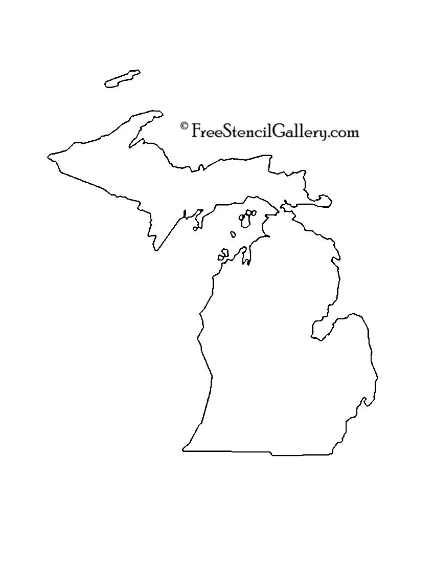 Michigan stencil free gallery