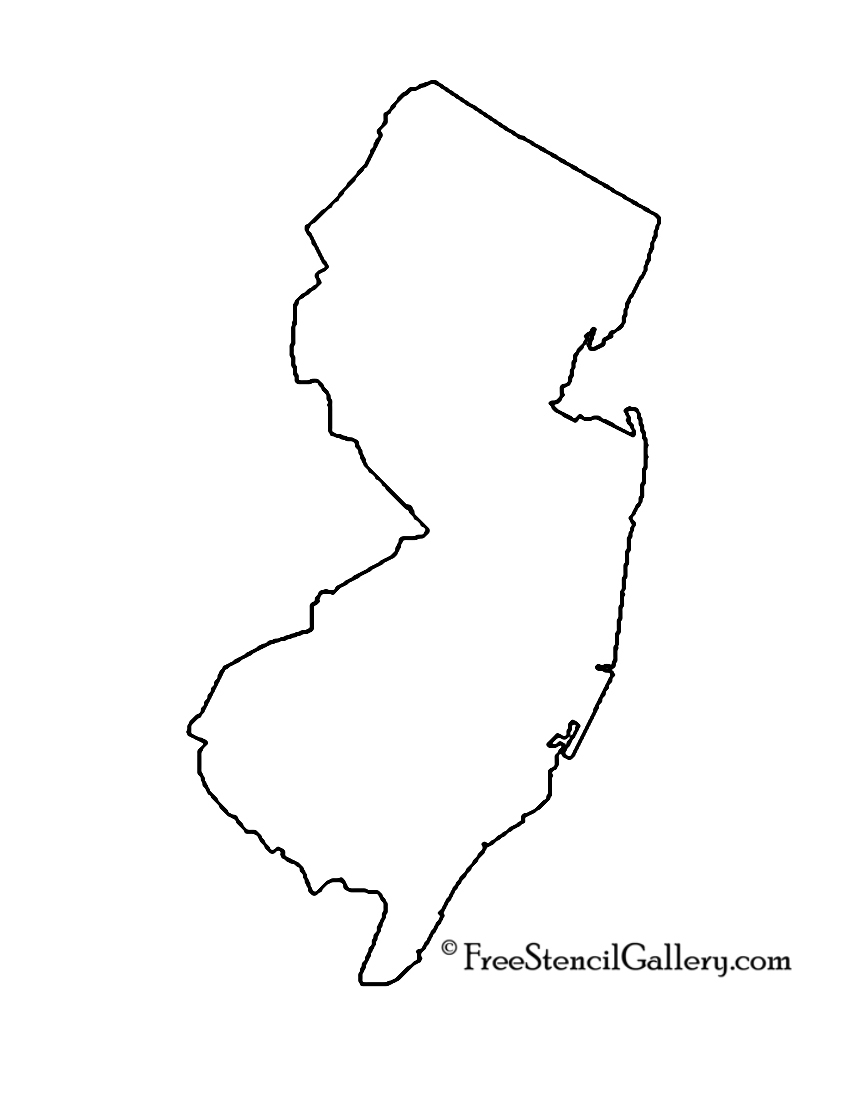 New Jersey Outline Clipart - Clipart Kid