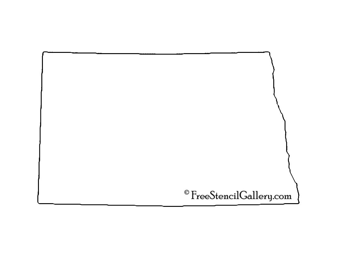 North Dakota Stencil