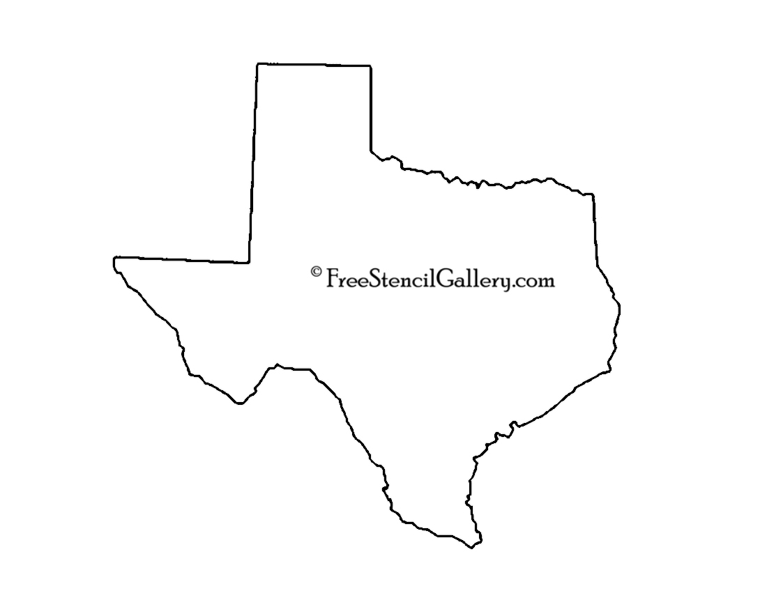 graphic about Texas Printable named Texas Stencil Free of charge Stencil Gallery