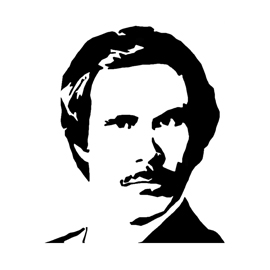 Anchorman Ron Burgundy Stencil