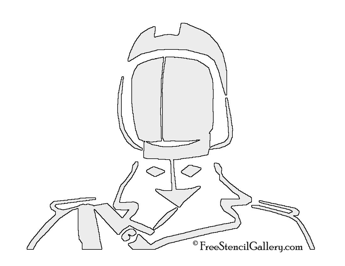 Cobra Commander Stencil
