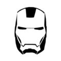Iron Man Mask Stencil