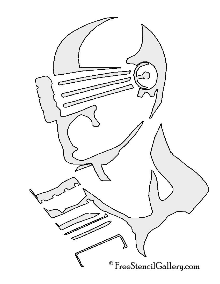 Snake Eyes Stencil
