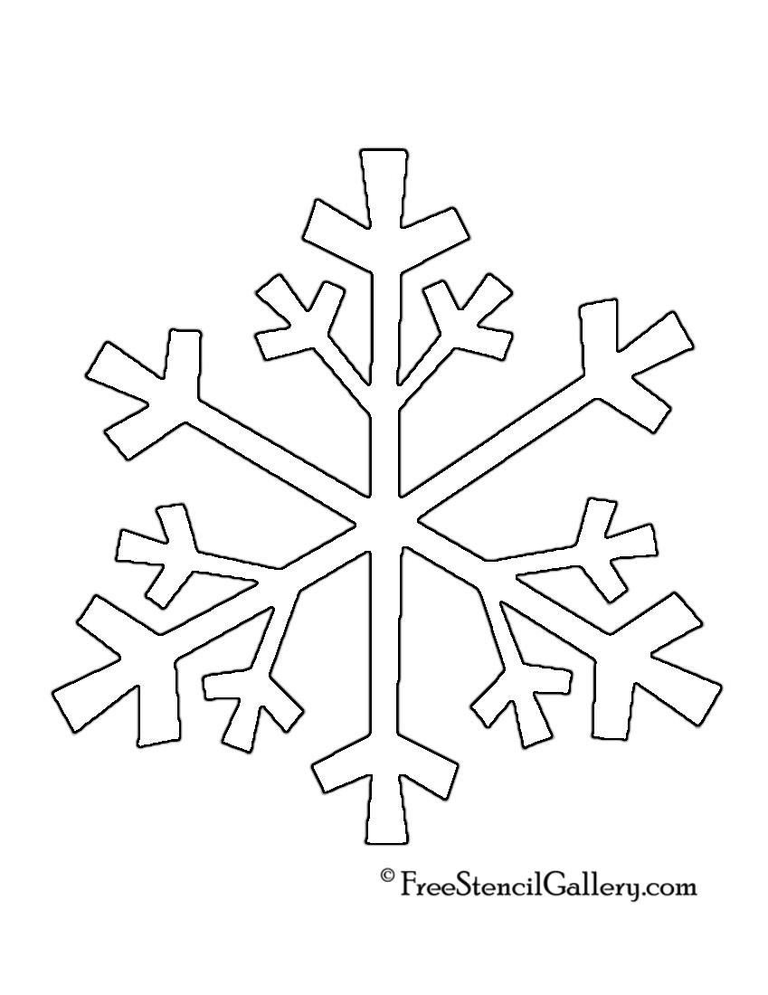 Snowflake Stencil 04