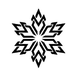 Snowflake Stencil 06