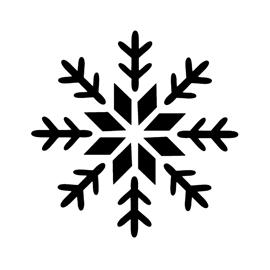 Snowflake Stencil 09