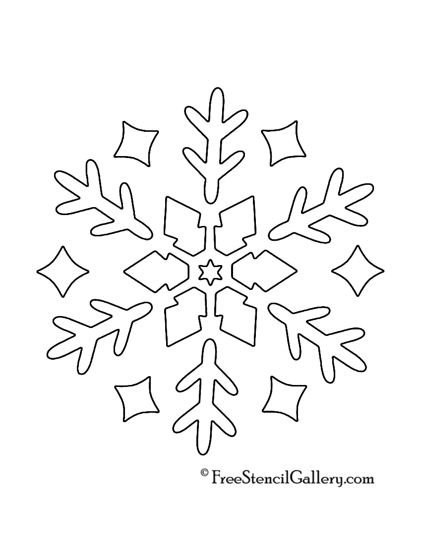 "Snowflake Calendar Printables : Search results for ""simple snowflake templates to print"