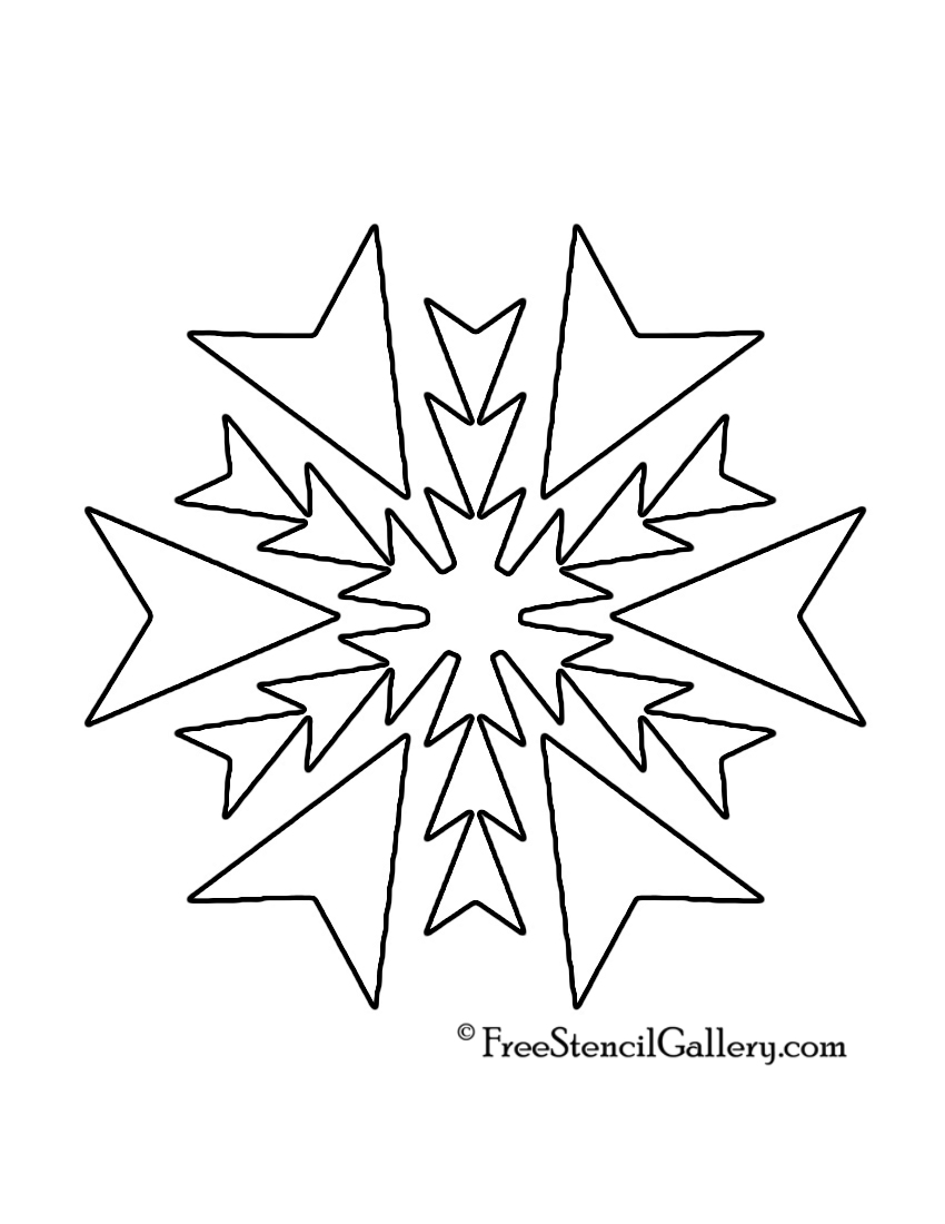 photo regarding Free Printable Quilt Stencils named Snowflake Stencil 19 Absolutely free Stencil Gallery