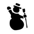 Snowman Stencil 06