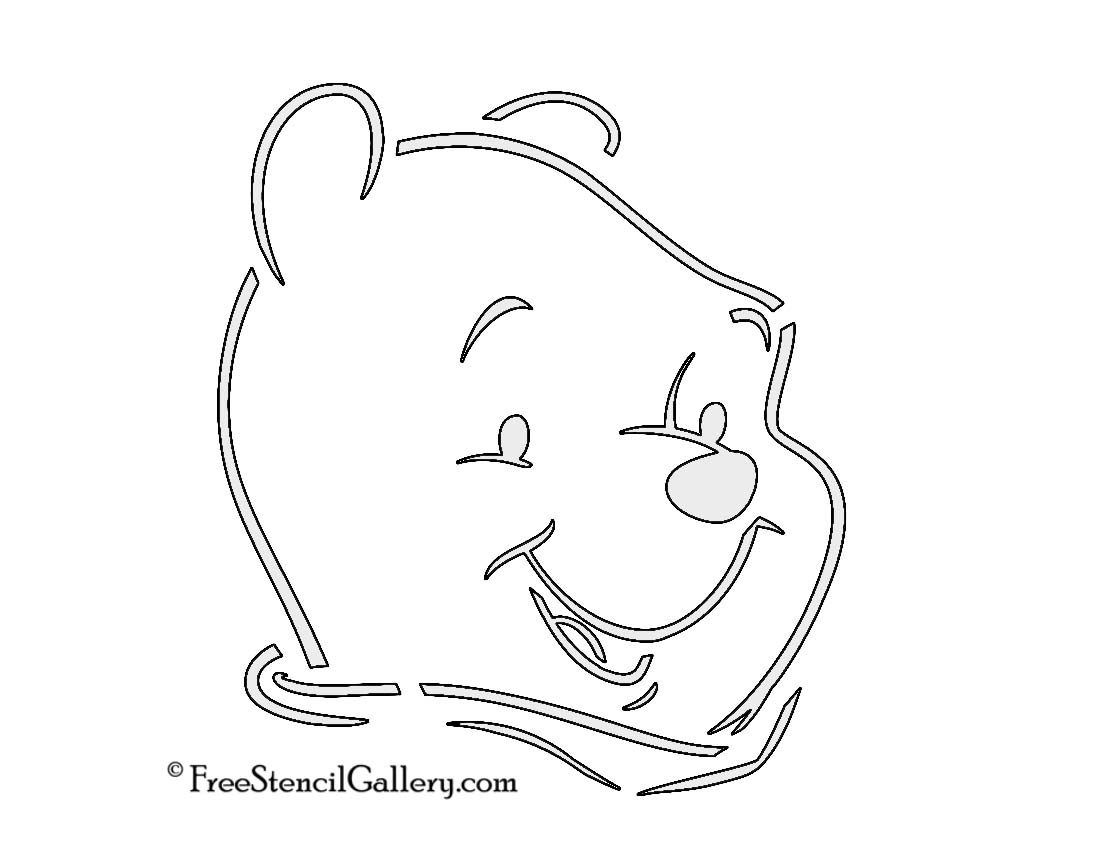 Winnie the pooh stencil free stencil gallery for Winnie the pooh pumpkin carving templates